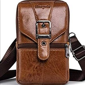 Leather Vertical Phone Waist Bag,Cell Phone Pouch